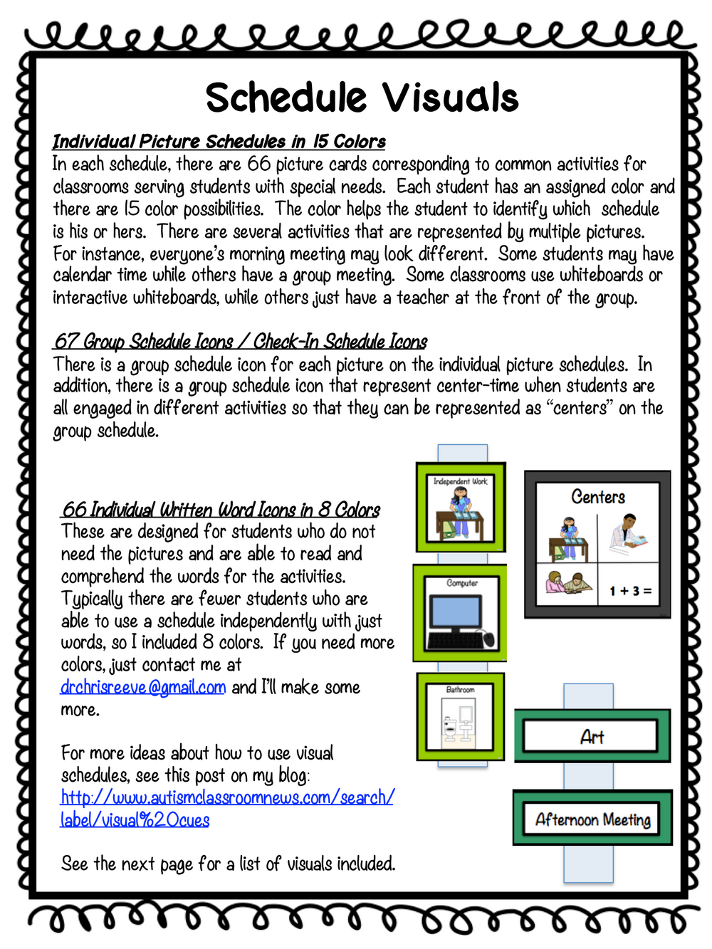 Middle & High School Classroom Visual Set for Autism and Special Education in Solid Colors - Autism Classroom Resources