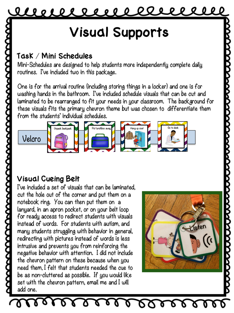 Chevron Middle & High School Classroom Visual Bundle for Autism and Special Education Classrooms - Autism Classroom Resources