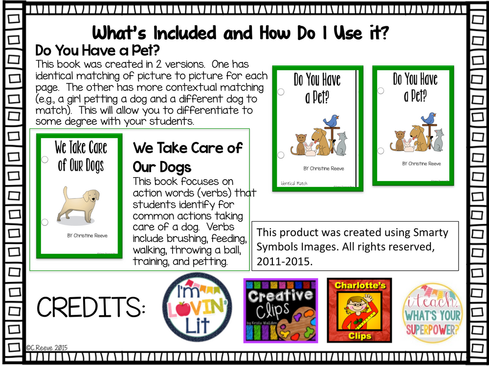 Pets Interactive Books for Special Education - Autism Classroom Resources