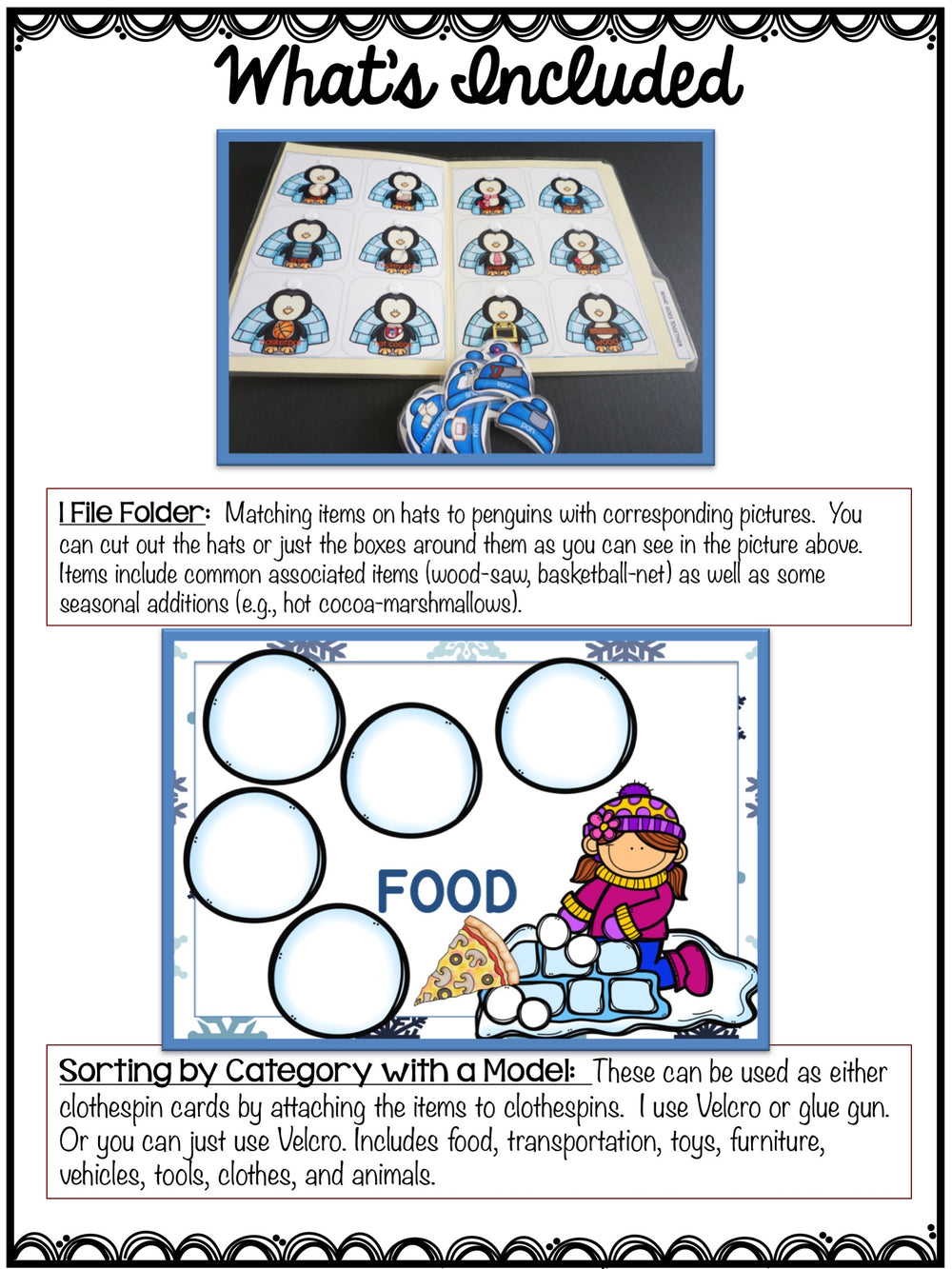 Autism Receptive Vocabulary Activities for Winter: Feature Function Class - Autism Classroom Resources
