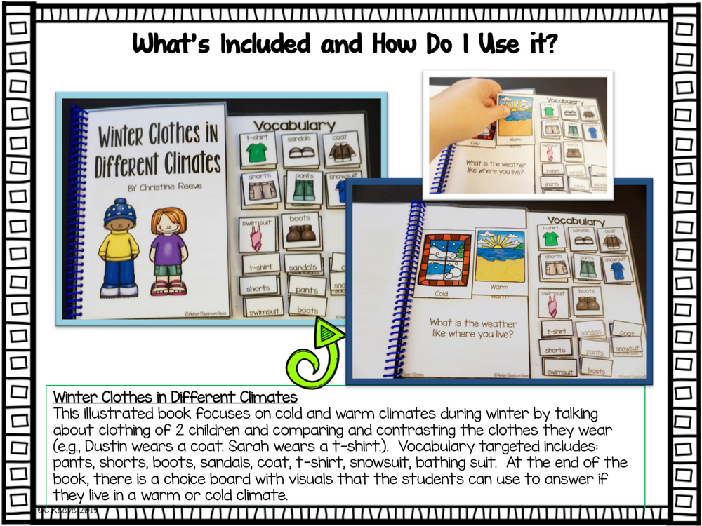 Winter Interactive Adapted Books for Autism and Special Education - Autism Classroom Resources
