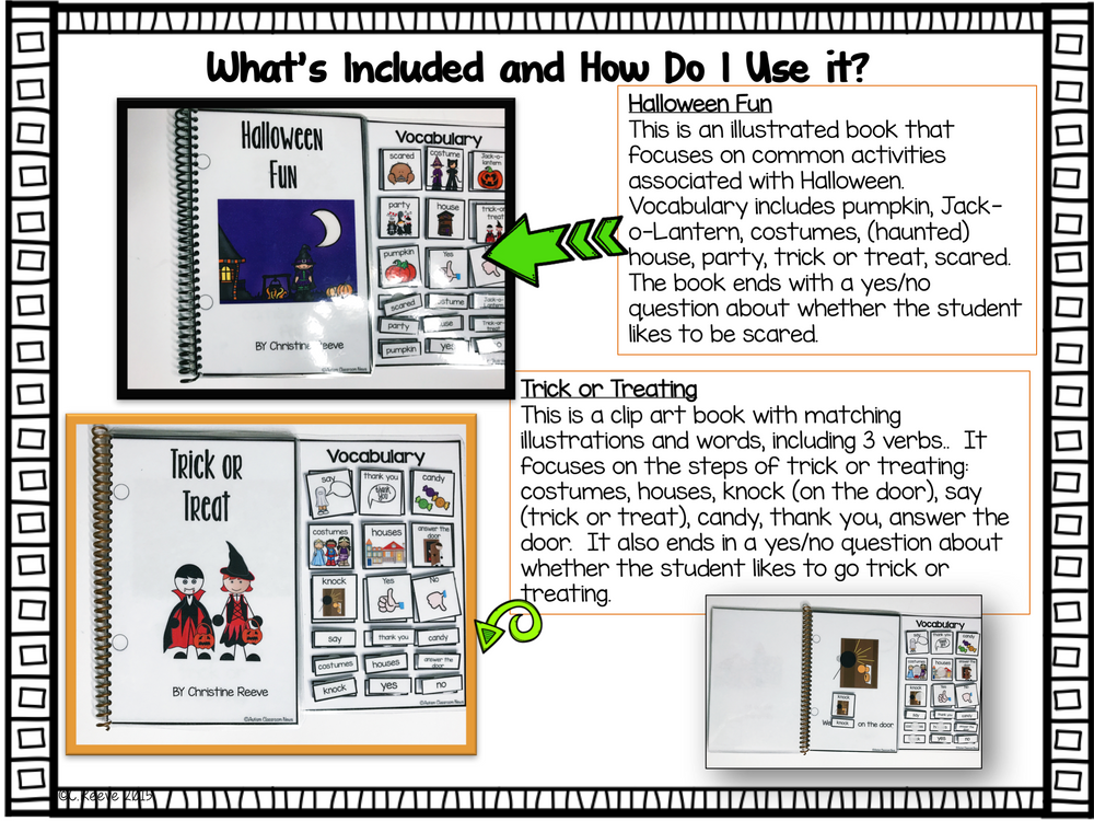 Halloween Functional Interactive Books for Special Education and Literacy - Autism Classroom Resources