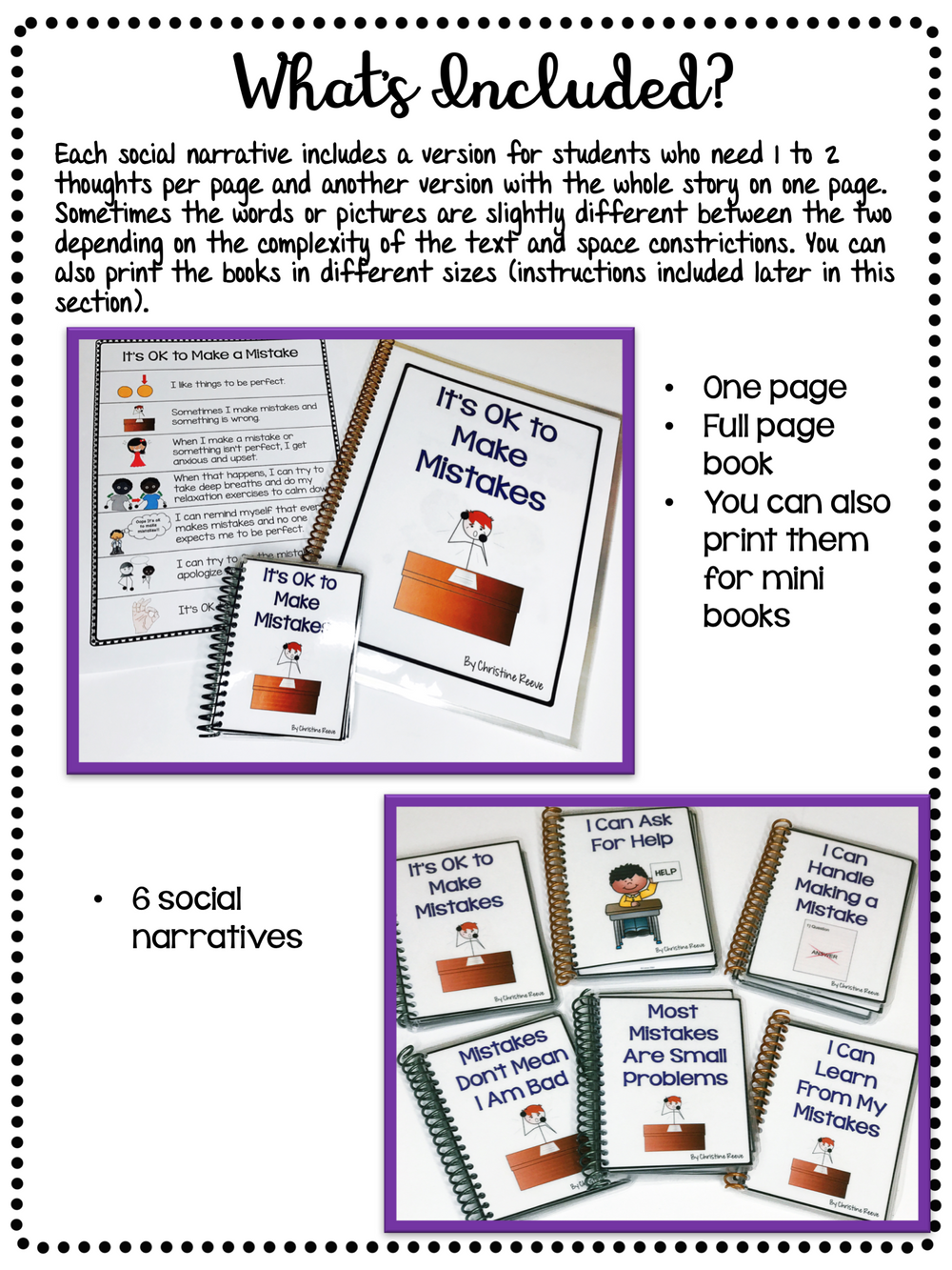 Behavioral Toolkit for Coping With Making Mistakes with Social Narratives - Autism Classroom Resources