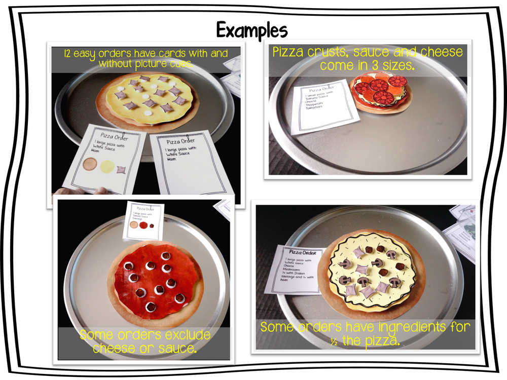 Build a Pizza: Sequencing and Following Directions Vocational Activities - Autism Classroom Resources