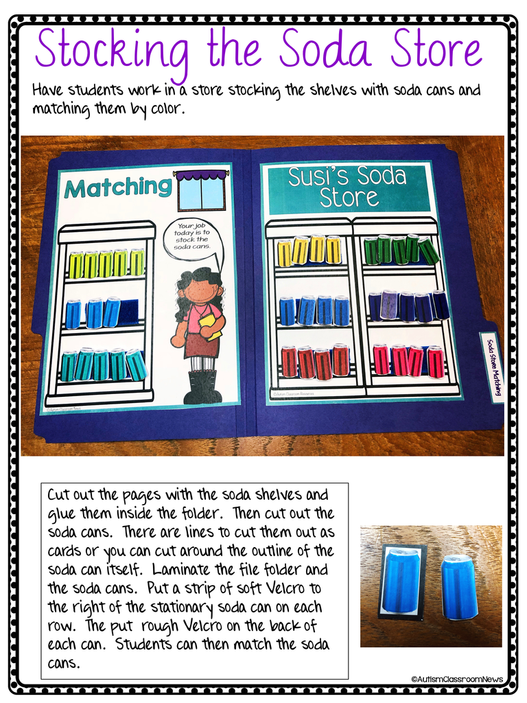 Functional Independent Work Tasks: Color Matching File Folders & Task Cards - Autism Classroom Resources