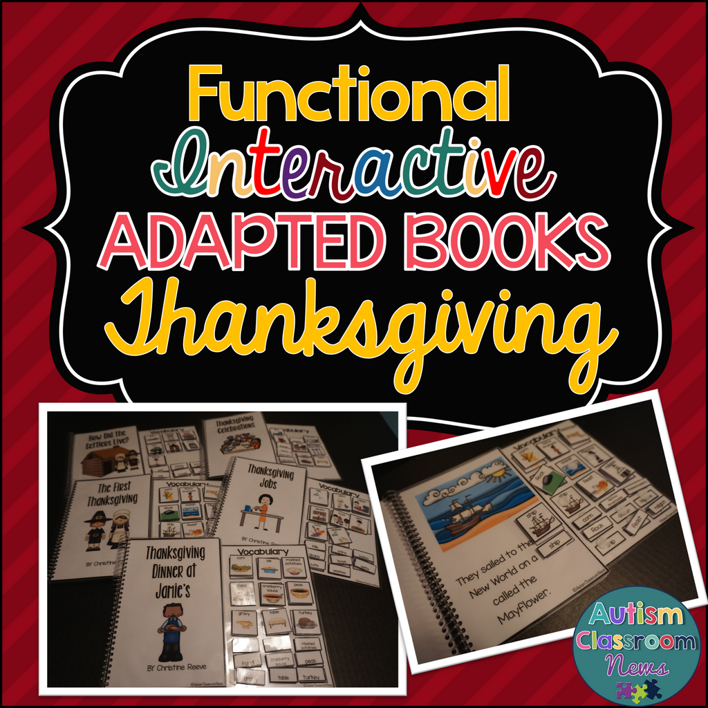 Thanksgiving Functional Interactive Books for Early Childhood & Special Education