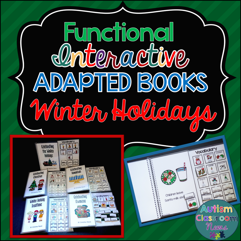 Winter Holidays Interactive Books for Special Education - Autism Classroom Resources