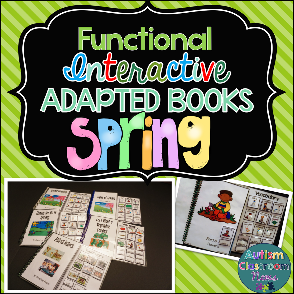 Spring Functional Adapted Books for Autism & Special Education Classes - Autism Classroom Resources