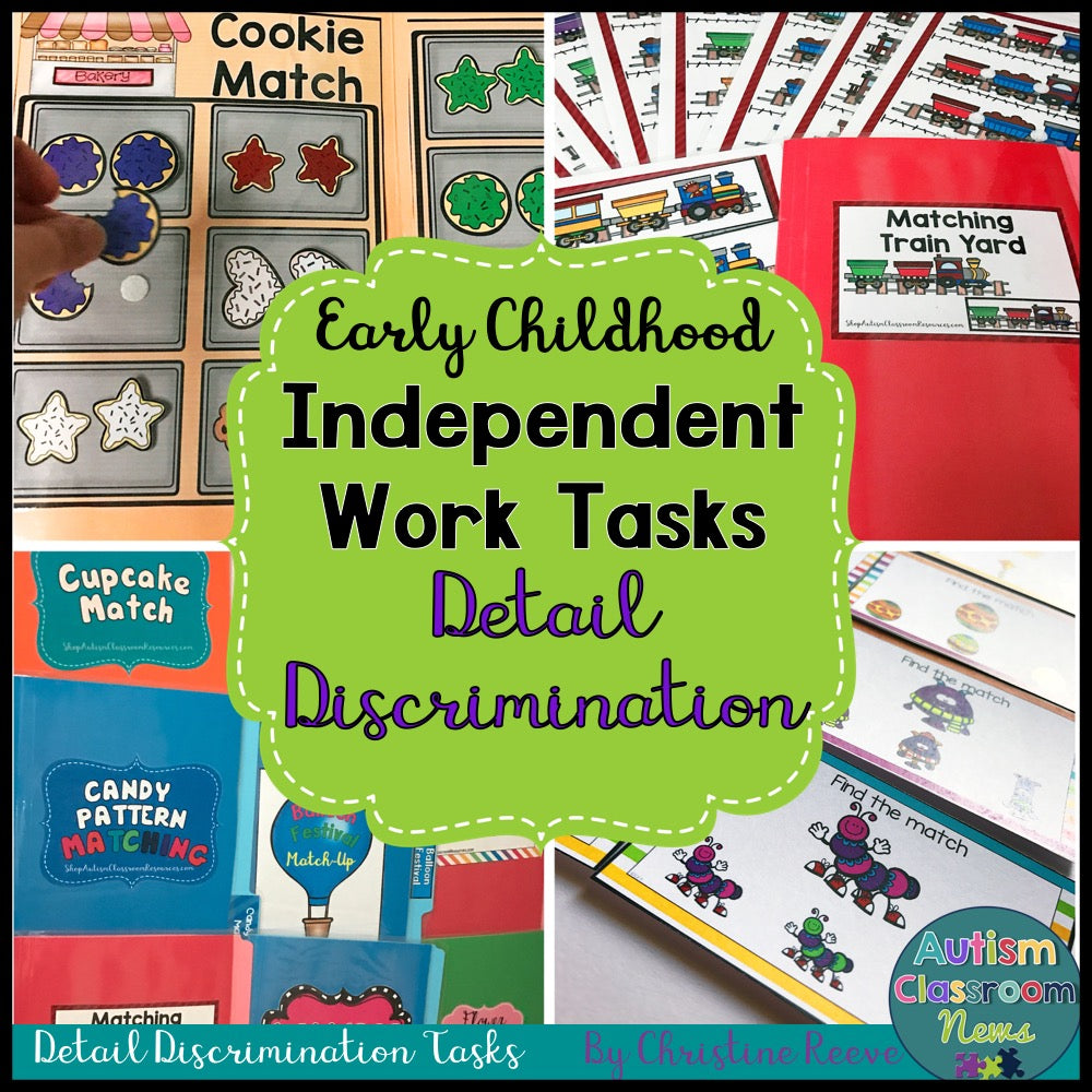 Independent Work Tasks: Discrimination Match Early Childhood & Special Education - Autism Classroom Resources