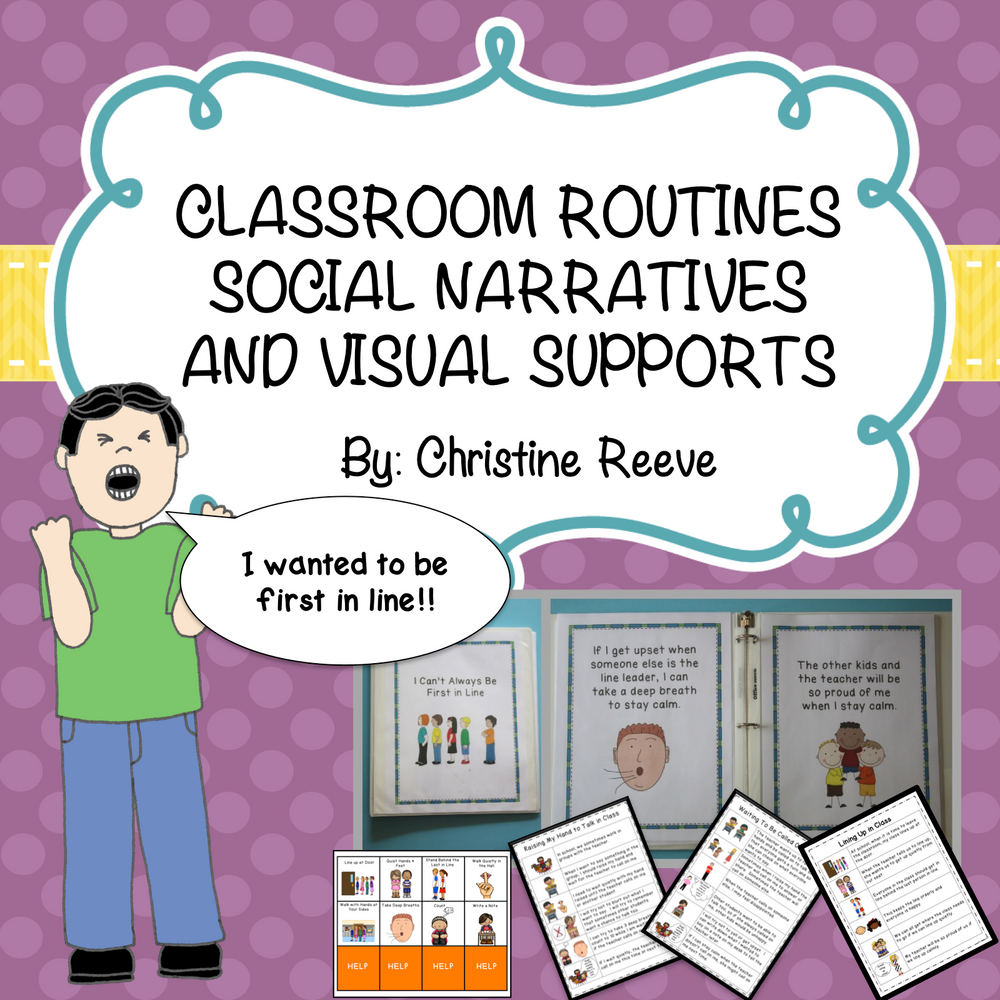 Classroom Routine Social Narratives and Visual Supports for Early Education & Special Ed. Classrooms
