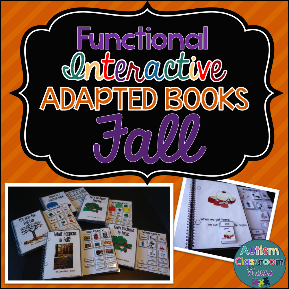 Autumn Interactive Adapted Books for Preschool and Special Education Classrooms - Autism Classroom Resources