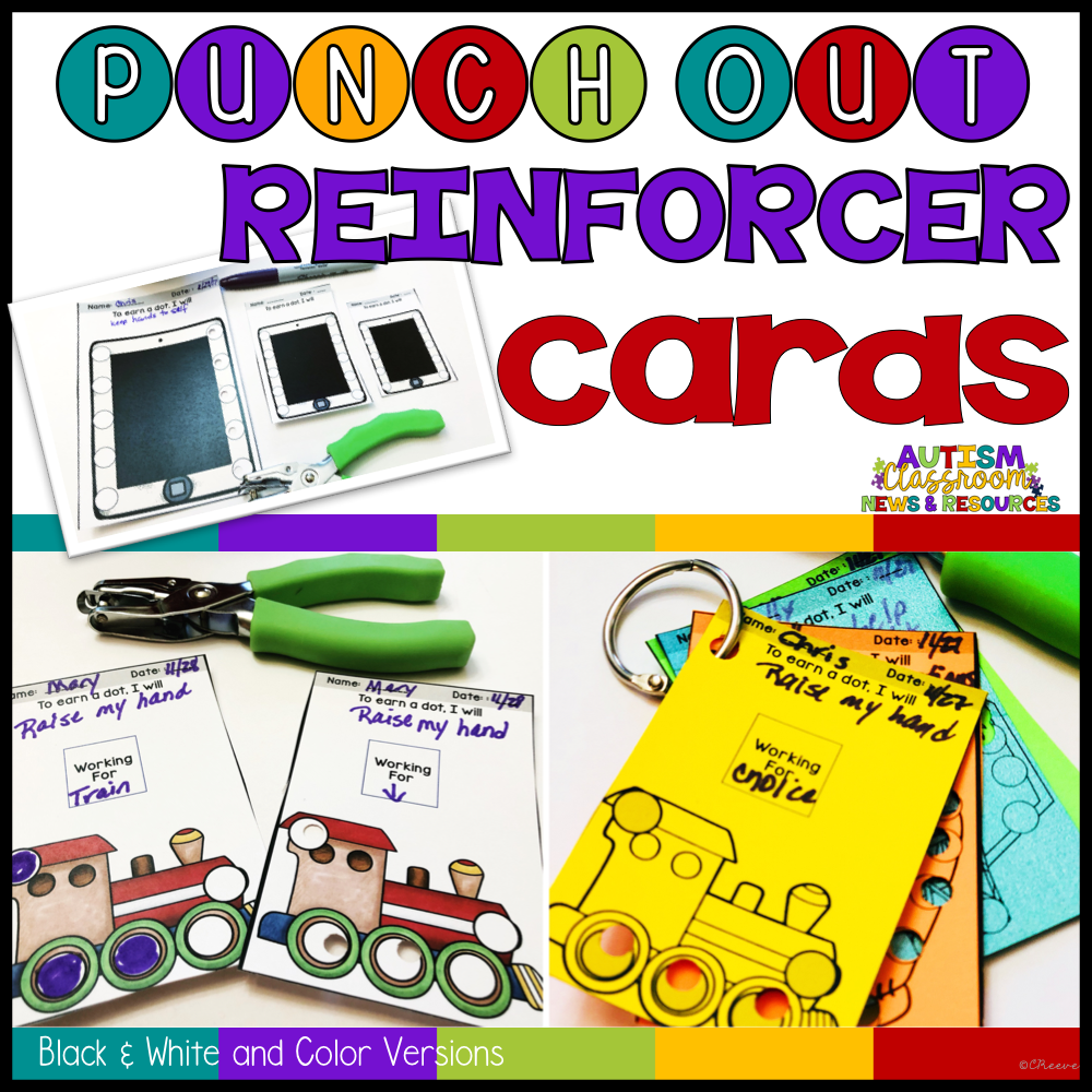 Punch-Out Reinforcement Cards for Behavior Management