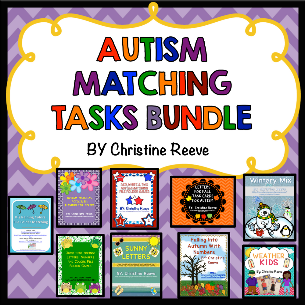 Basic Skills Matching Tasks Bundle for Autism and Special Education - Autism Classroom Resources