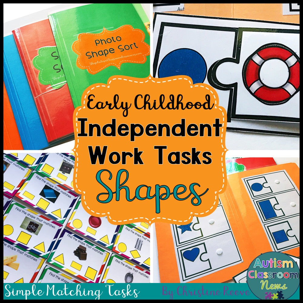 Independent Work Tasks Shape Matching for Early Childhood and Special Education - Autism Classroom Resources