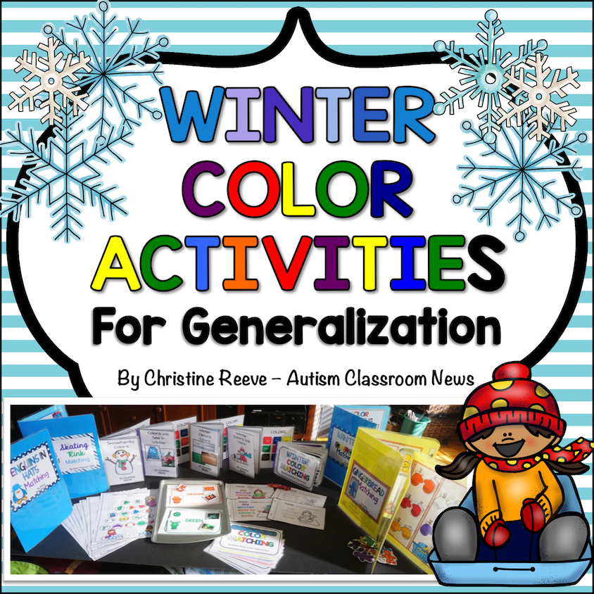 Winter Color Activities for Generalization in ABA and Special Education Programs - Autism Classroom Resources
