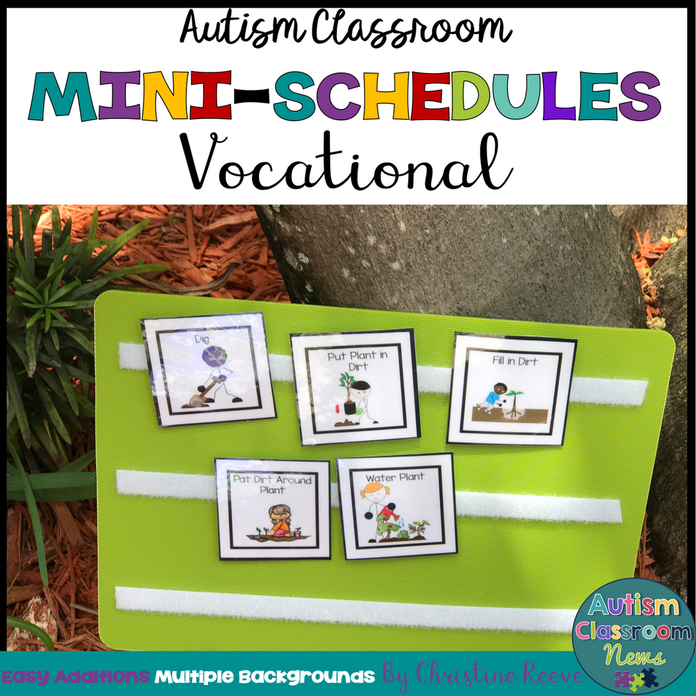 Vocational Skills Mini-Schedules for Special Education and Autism Classrooms - Autism Classroom Resources