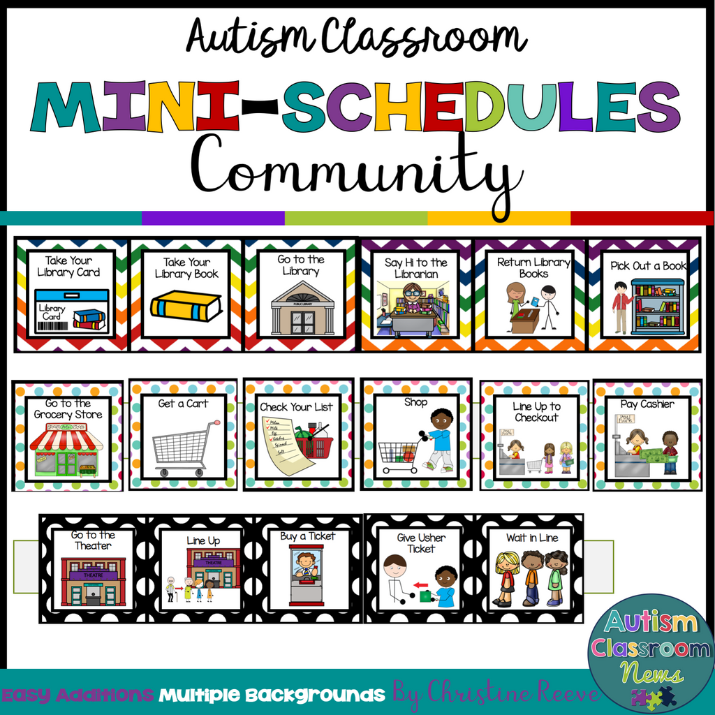 Community Skills Mini-Schedules for Special Education and Autism Classrooms - Autism Classroom Resources