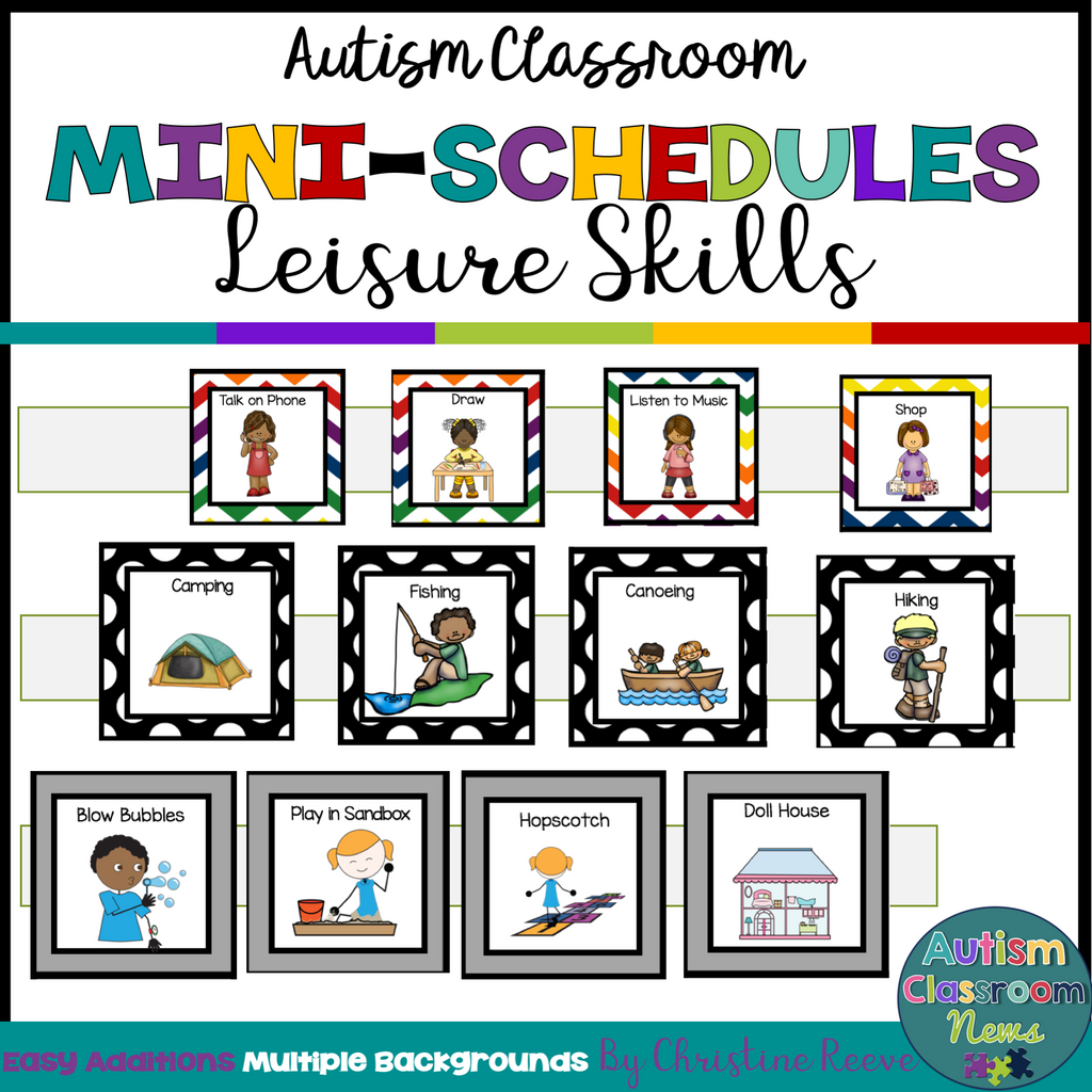Leisure Skills Mini-Schedules for Special Education and the Autism Classroom - Autism Classroom Resources