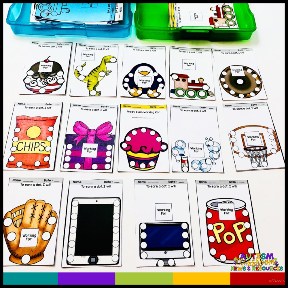 Punch-Out Reinforcement Cards for Behavior Management - Autism Classroom Resources