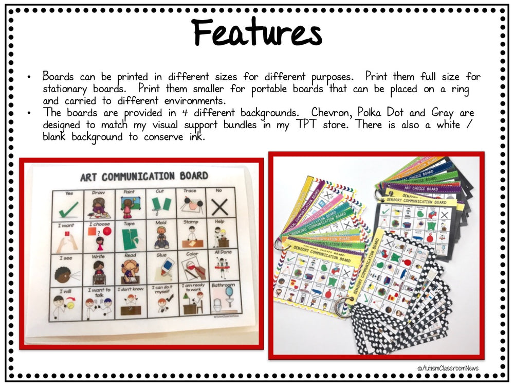 Classroom Communication Boards for Special Education and Autism AAC - Autism Classroom Resources