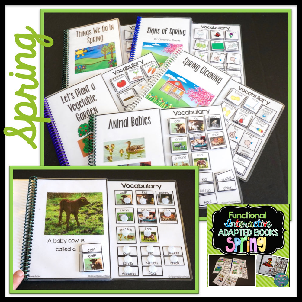 Seasons BUNDLE: Functional Adapted Interactive Books for 4 Seasons - Autism Classroom Resources