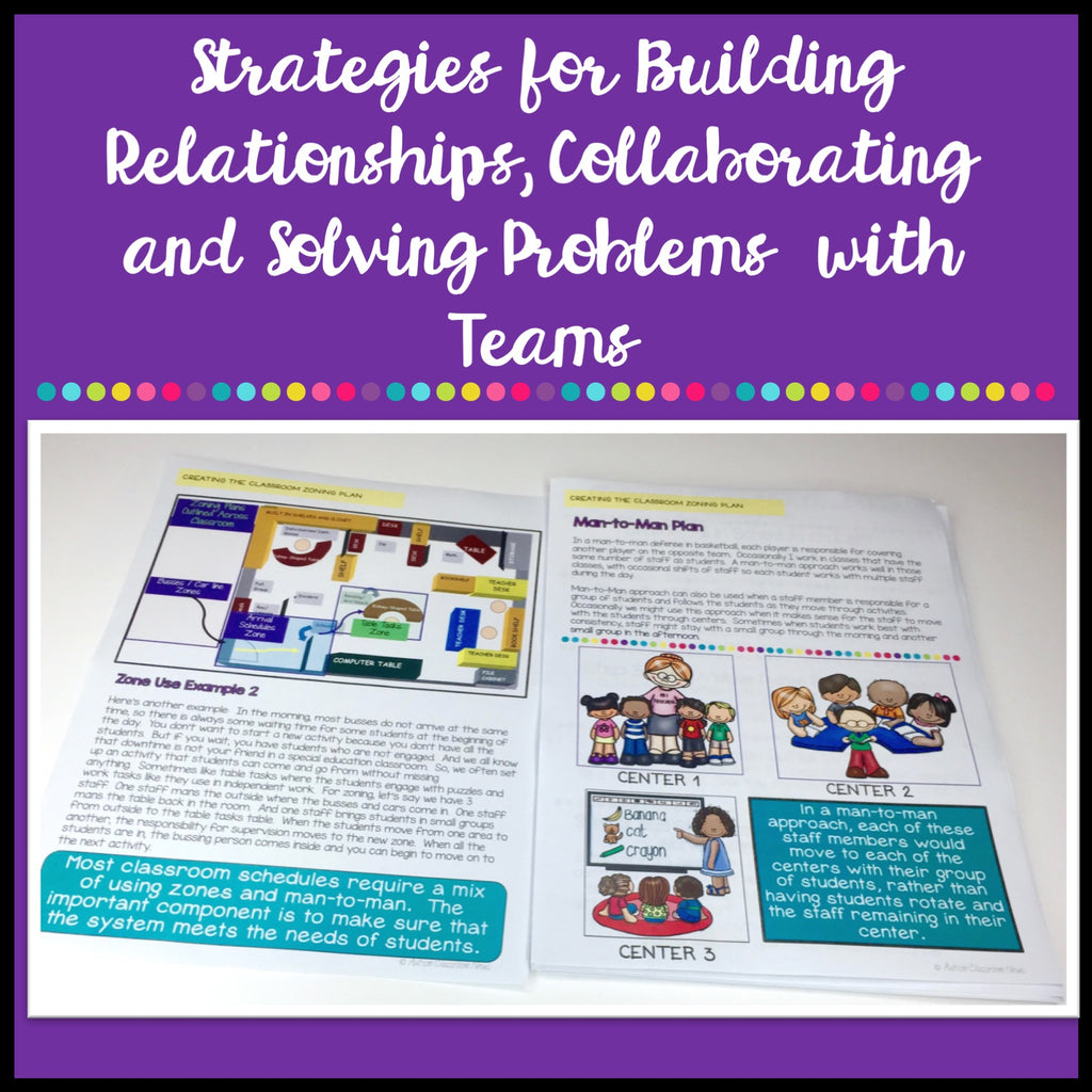 Special Education Classroom Building Classroom Teams & Zoning Plans Toolkit - Autism Classroom Resources