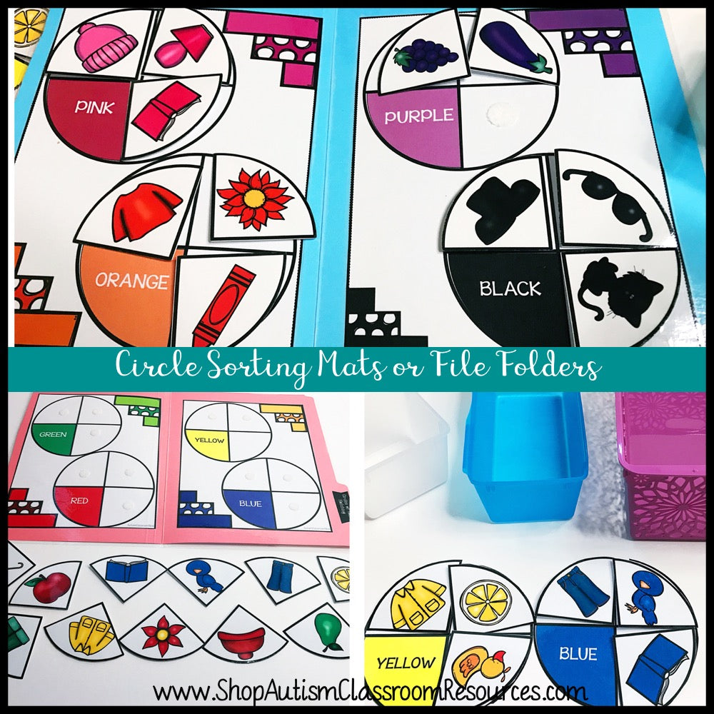 Early Childhood Independent Work Tasks: Color Matching - Autism Classroom Resources