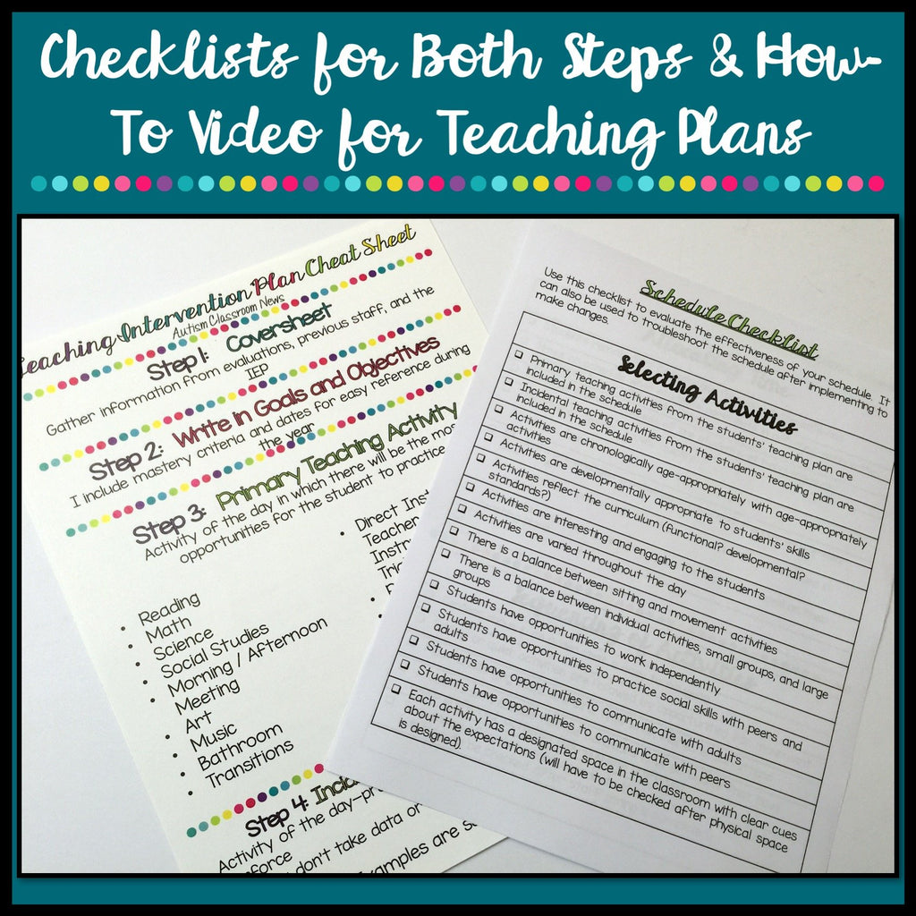 Special Education Classroom Teaching Plan and Scheduling Toolkit - Autism Classroom Resources