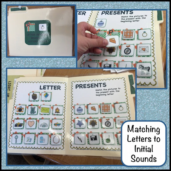 Autism Basic Skills: Wintery Mix of Letters and Numbers for Special Education