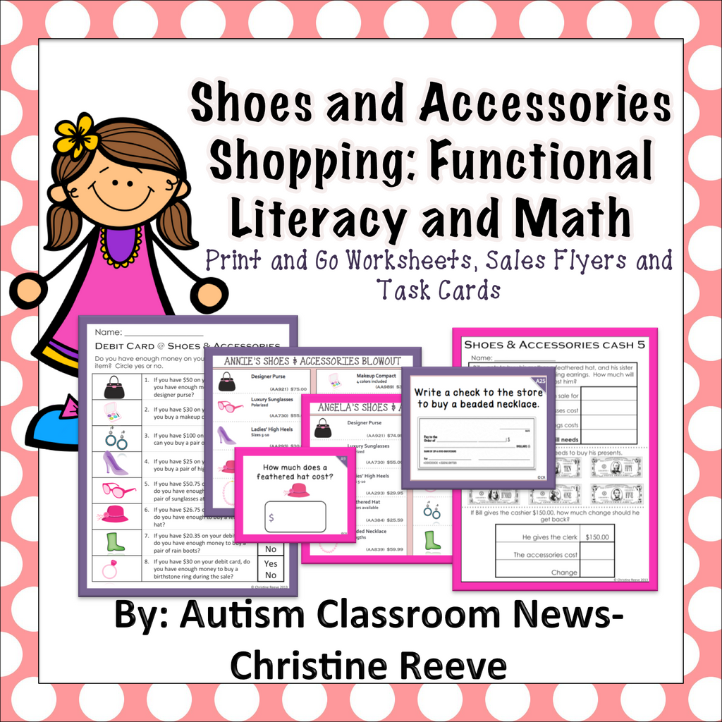 Shoes Shopping: Functional Literacy and Math Skills (Special Education) - Autism Classroom Resources
