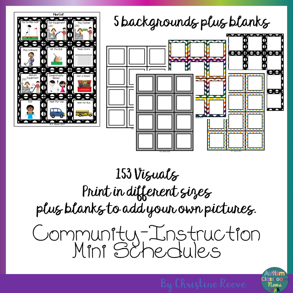 BUNDLE of Mini-Schedules For All Ages for Special Education