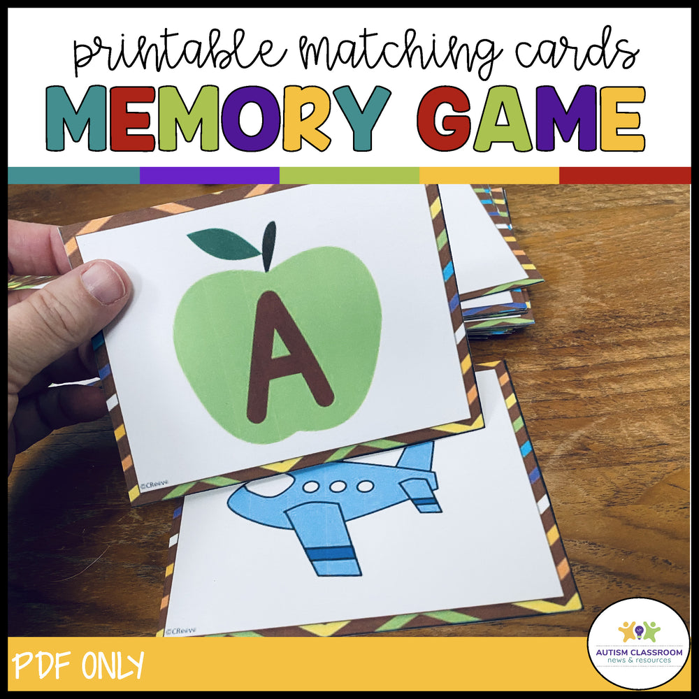 Fall Letter Matching & Identification Task Cards: For Print and Digital - Autism Classroom Resources