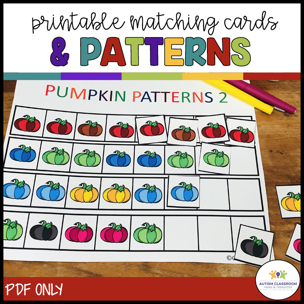 Pumpkin Patch Numbers: Tasks for Independent Work for Autism & Special Education - Autism Classroom Resources