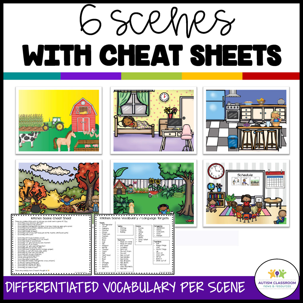 Picture Scenes for I Spy and Language Building in Classroom and Distance Learning - Autism Classroom Resources