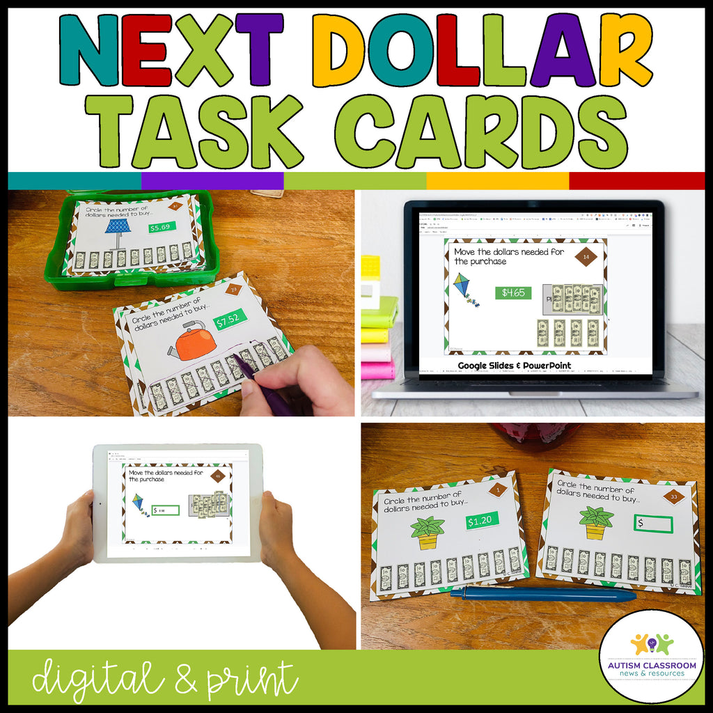 Next Dollar Up Department Store Task Cards: Money Skills for Special Education - Autism Classroom Resources