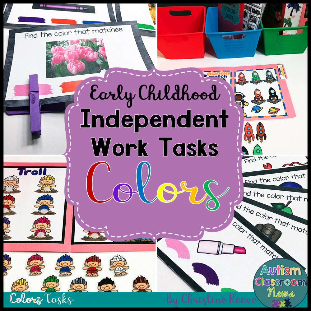 Early Childhood Independent Work Tasks: Color Matching