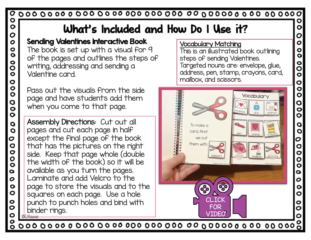 Valentine's Day Morning Meeting Add-On Kit for Preschool and Special Education - Autism Classroom Resources