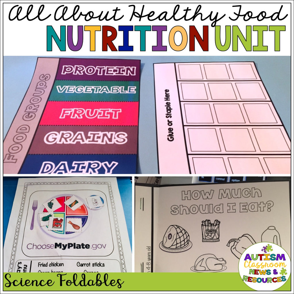 All About Healthy Foods: Nutrition Unit for Special Education (autism) - Autism Classroom Resources
