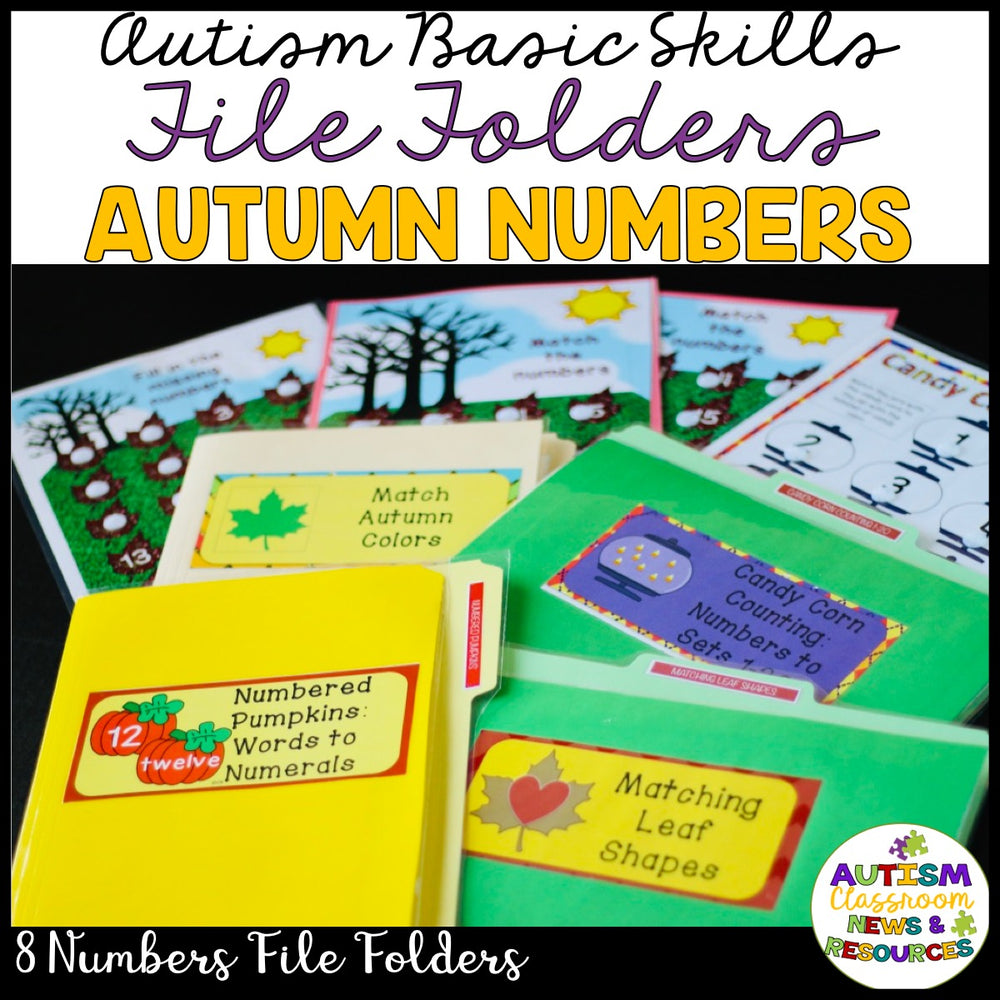 Autumn Numbers File Folders: Matching Tasks for Early Childhood and Special Education - Autism Classroom Resources
