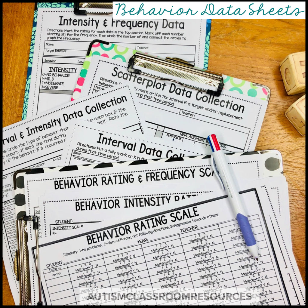Data Sheets MegaPack for Challenging Behavior for Special Ed & RTI