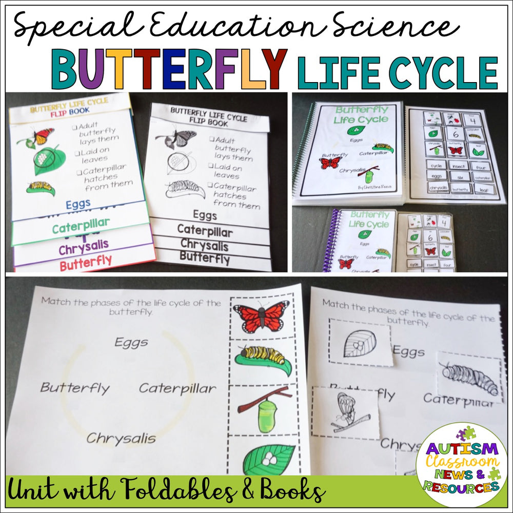 Science Butterfly Life Cycle Unit for Special Education - Autism Classroom Resources