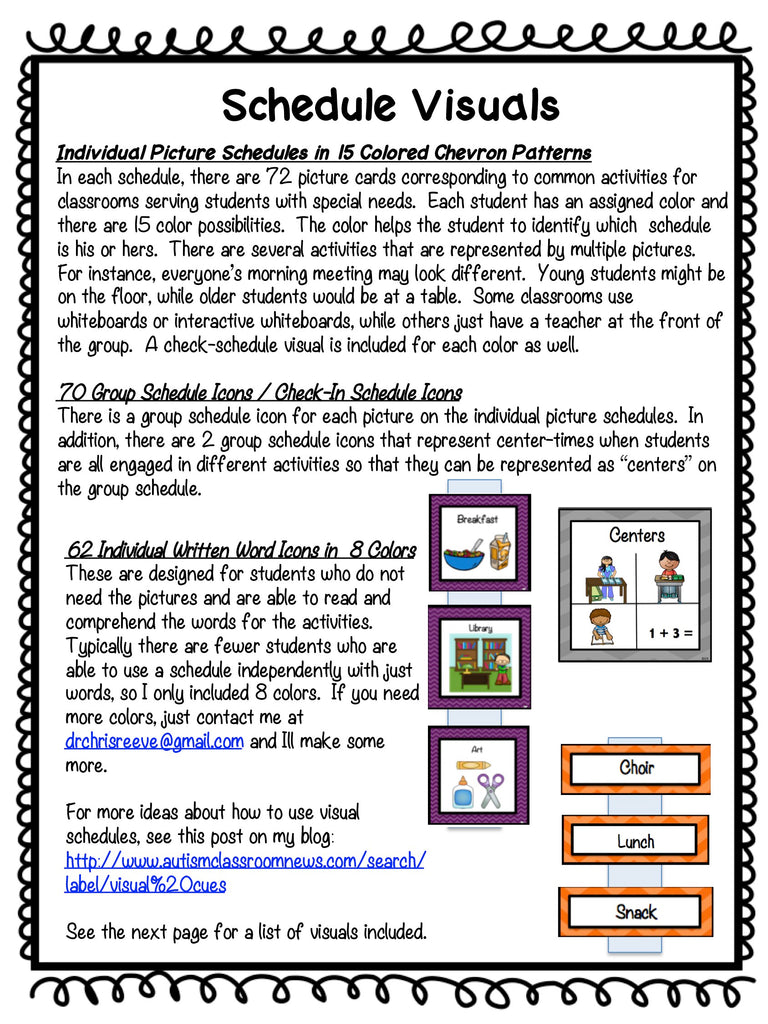 Chevron Pre-K - Elementary Classroom Visual Bundle for Autism and Special Education Classrooms - Autism Classroom Resources