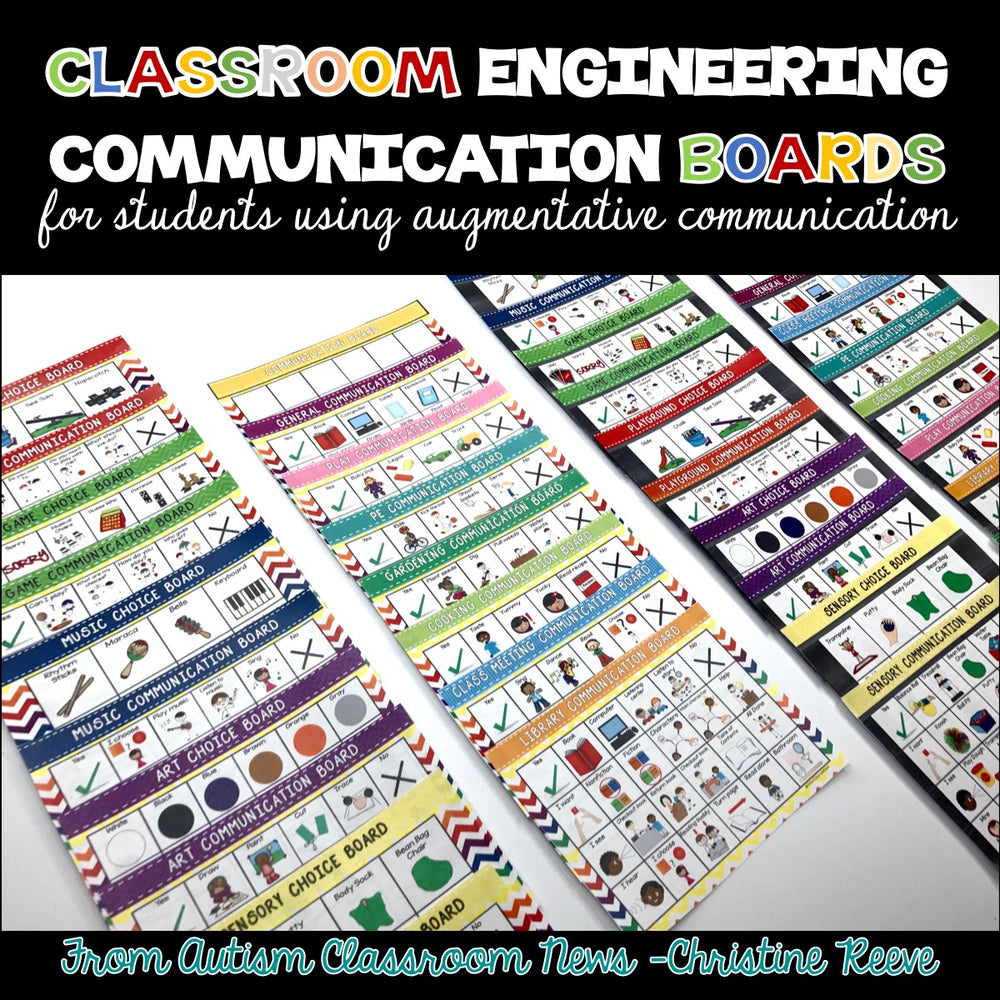Classroom Communication Boards for Special Education and Autism AAC