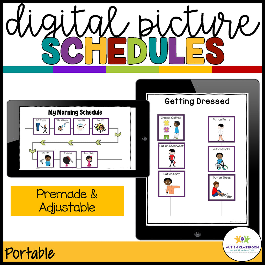 Digital Picture Schedules for Distance Learning at Home - Autism Classroom Resources