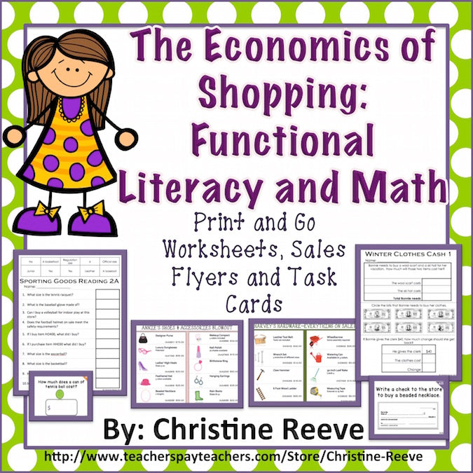 Economics of Shopping Bundle: Functional Literacy and Math - Autism Classroom Resources