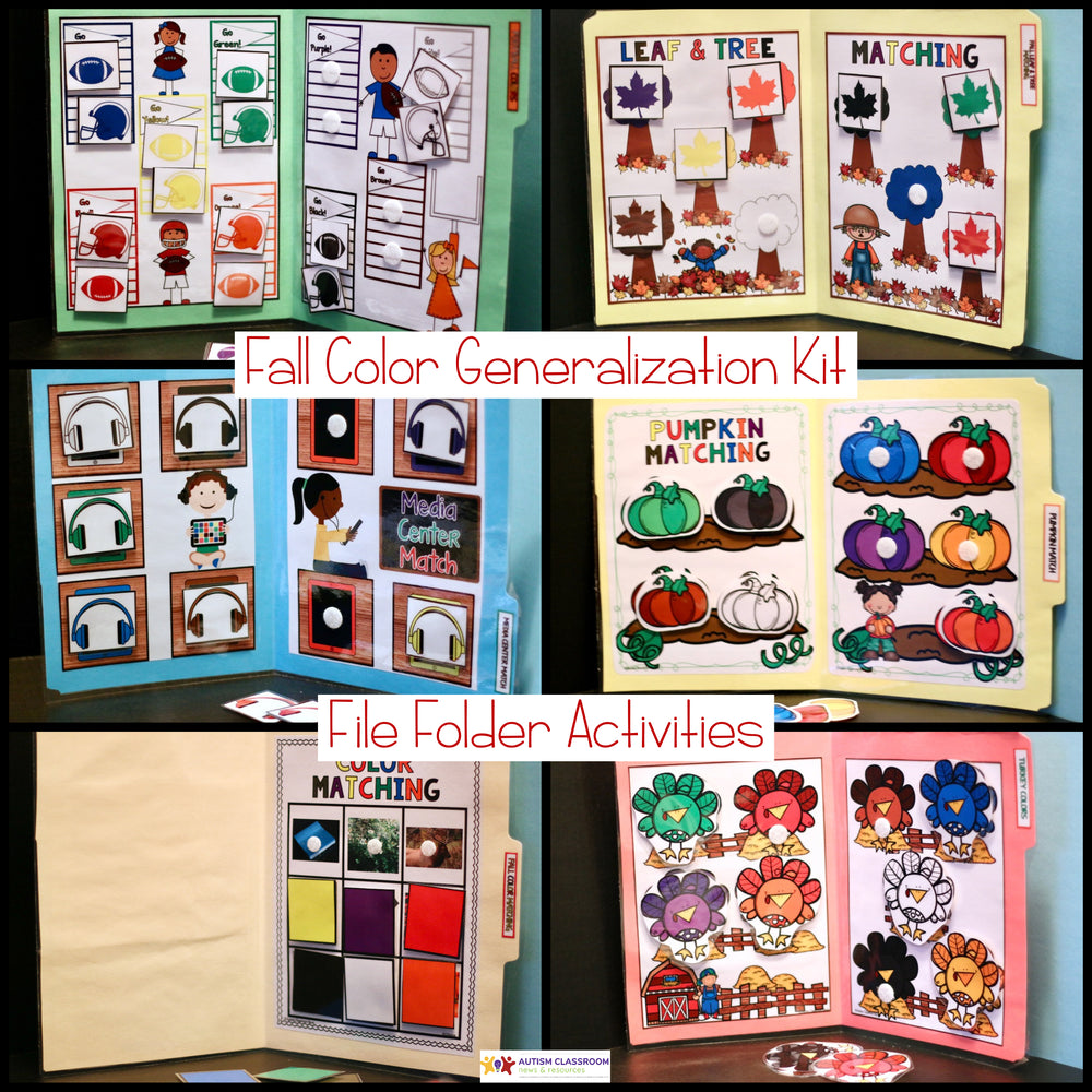 Autumn Color Activities for Generalization in Preschool and Autism Programs - Autism Classroom Resources