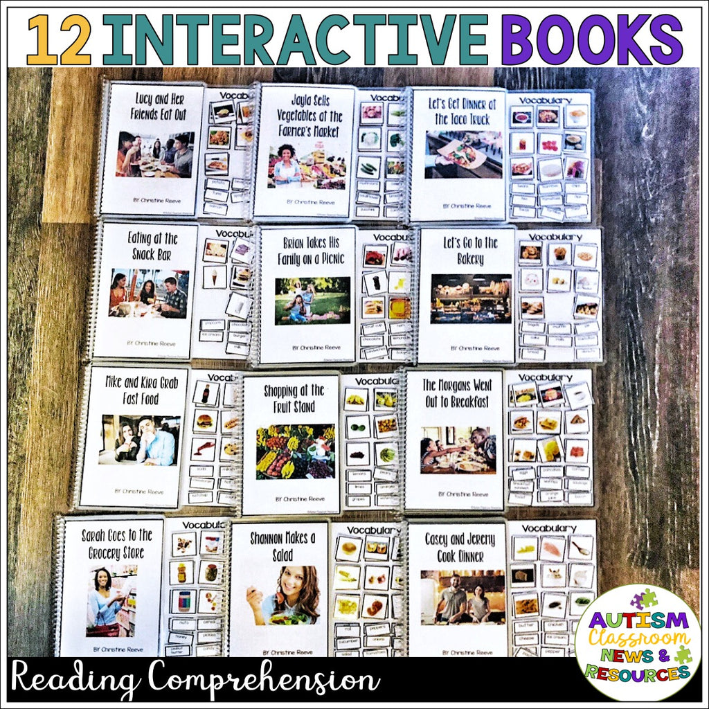 Functional Sight Word Interactive Books for Reading Comprehension: Food Words - Autism Classroom Resources