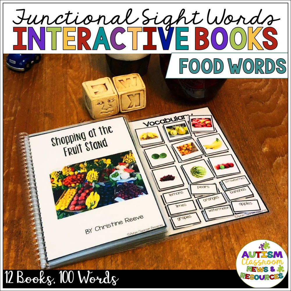 Functional Sight Word Interactive Books for Reading Comprehension: Food Words