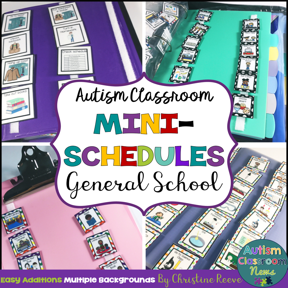 Mini-Schedules for General School Activities for Autism and Special Education