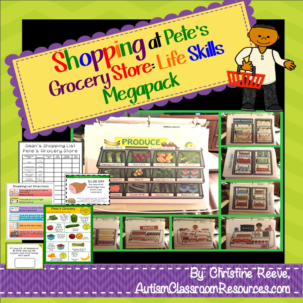 Real-World Skills Grocery Shopping for Life Skills Classes - Autism Classroom Resources